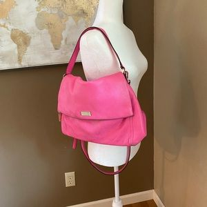 ♠️ Kate Spade Hot Pink Leather Purse Messenger